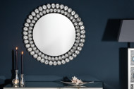 Extravagante wandspiegel BIG DIAMONDS 80 cm rond met glaskristallen