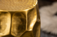 Handgemaakte bijzettafel ORGANIC ORIENT 46 cm goud gehamerd design