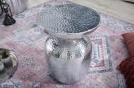 Handgemaakte bijzettafel ORIENT 36 cm zilver hamerslag design