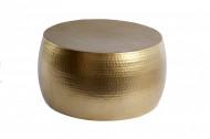Handgemaakte salontafel ORIENT III 60cm goud gehamerd design