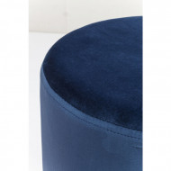 Hocker stof blauw Messing Ø35cm