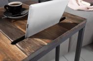 Industriële bijzettafel SCANDINAVIA 43cm acaciahout met tablethouder