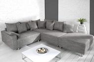Loungebank Model: Sonja + Hocker - Grijs