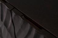 Massief dressoir SCORPION 100 cm zwart mangohout, uitgebreid 3D-houtsnijwerk
