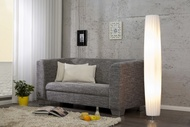 Moderne design vloerlamp PARIS 120cm witte vloerlamp met plissé kap