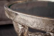 Salontafel Brons Stierenkoppen met Ronde glazen blad 56 cm