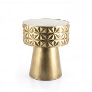 salontafel rond goud metaal