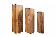 Set van 3 pilaren in drie verschillende maten MAKASSAR 80cm