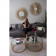 Spiegelende salontafel set van twee , koperkleurige
