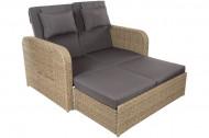 Tuinbank Functionele ligstoel Uitklapbare zijtafels en verstelbare rugleuning