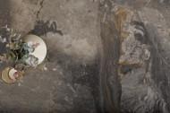 Uitschuifbare eettafel keramiek taupe in marmerlook EUPHORIA 180-220-260 cm