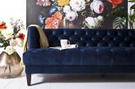 Bank Vogue - blauw velvet 215cm