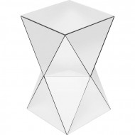 Bijzettafel Luxe Driehoek in spiegelglas 32x32cm