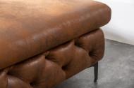 Chesterfield hoekbank MODERN BAROK 275 cm antiek bruin