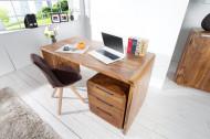 Design bureau CUBUS 150cm Sheesham Rosewood Wood Stone Finish