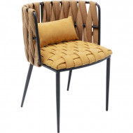 design Stoel Cheerio Geel incl Kussen