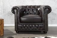 Elegante Chesterfield Coffee bruine fauteuil met knoopsluiting