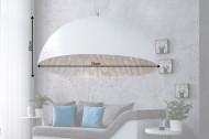 Elegante design hanglamp 70cm wit zilver hanglamp
