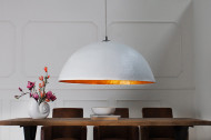 Elegante design hanglamp GLOW 70cm witgouden hanglamp