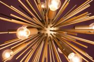 Elegante hanglamp SUNLIGHT 50cm gouden hanglamp