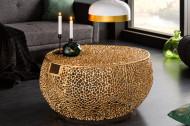 Filigraan design salontafel LEAF 80cm goud handgemaakt met handvatten