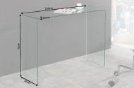 Glazen sidetable FANTOME 100 cm transparant