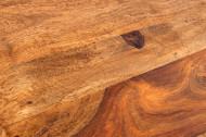 Handgemaakte bijzettafel MAKASSAR 45cm plank met Sheesham steenafwerking