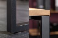 Industrieel bureau 180 cm eiken look met metalen frame