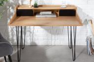 Industrieel bureau STUDIO 110 cm eiken-look laptoptafel met haarspeldpoten