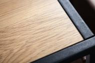 Industriële Bijzettafel zoals Laptoptafel 48 cm eiken look bijzettafel met plank
