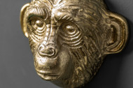 Kapstok Apen set van 3 Haken 25 cm goud