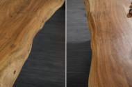 Massief boomstam eettafel MAMMUT NATURE 200 cm acacia massief hout 6 cm dik blad