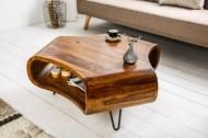 Massief sheesham hout salontafel met onder opbergruimte model spin.