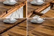 Massief Sheeshamhout Eettafel PURE 160-240cm met Verlengbare platen