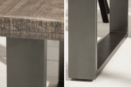 Massieve eettafel 160cm mangohout grijs ijzer industrieel design