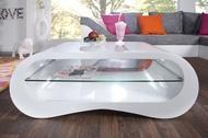 Moderne Design Salontafel Hoogglans Wit Model: Manhattan