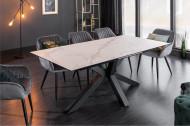Moderne keramische eettafel Bella 180-225 cm uitschuifbaar in marmerlook