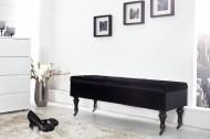 Noble BOUTIQUE Design bankje 110 cm (Zwart) met opbergruimte