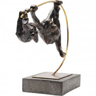 Sculptuur Twee klimmende apen