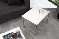 Set van 2 design salontafel ELEMENTS 100cm wit hoogglans chroom