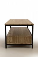 TV-meubel Sonoma zwarte frame 106cm