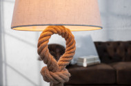 Ultimate tafellamp 80cm touw met linnen kap