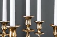 Barok kandelaar 40 cm goud 5-armige gepolijst aluminium kandelaar