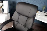 Bureaustoel Comfortabel Directiestoel Pu zwart met armleuningen