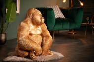 Deco Beeld Aap Gorilla Side XL Goud