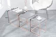Design bijzettafel set van 3 ELEMENTS 40cm antraciet koper