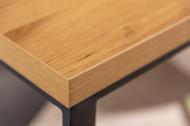 Design Bijzettafel zoals Laptoptafel 45 cm eiken look bijzettafel zwart frame