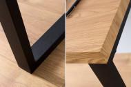 Design bureau OAK DESK 120cm eiken vintage metalen frame zwart