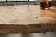 Design salontafel met opbergruimte DRUMP STORAGE 68 cm naturel mangohout Industrial