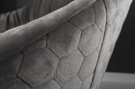 Draaifauteuil BIG DUTCH grijs fluweel met armleuningen in retrostijl